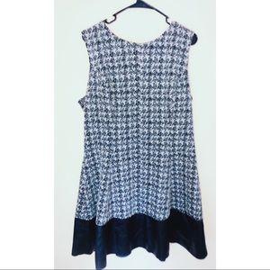 Lauren Ralph Lauren Blue/White Print Dress Size 18